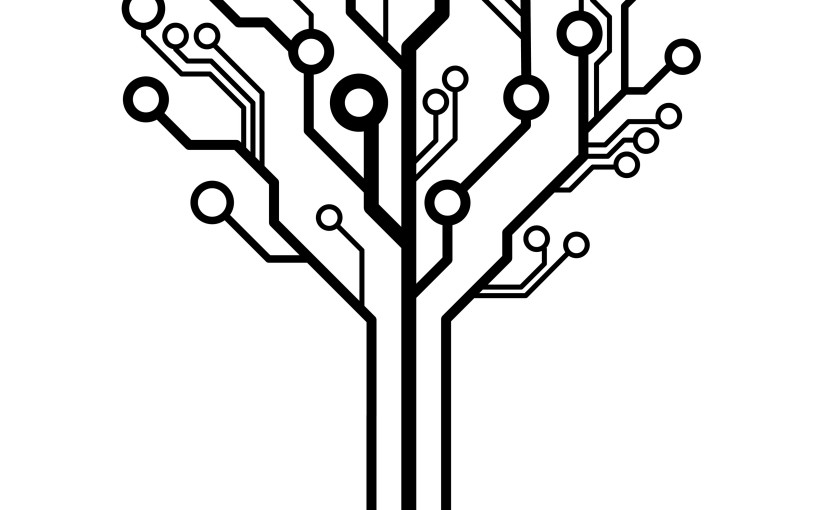 Tree Design On Circuit Board Wallpaper Vector Image: Red Dice Diaries
